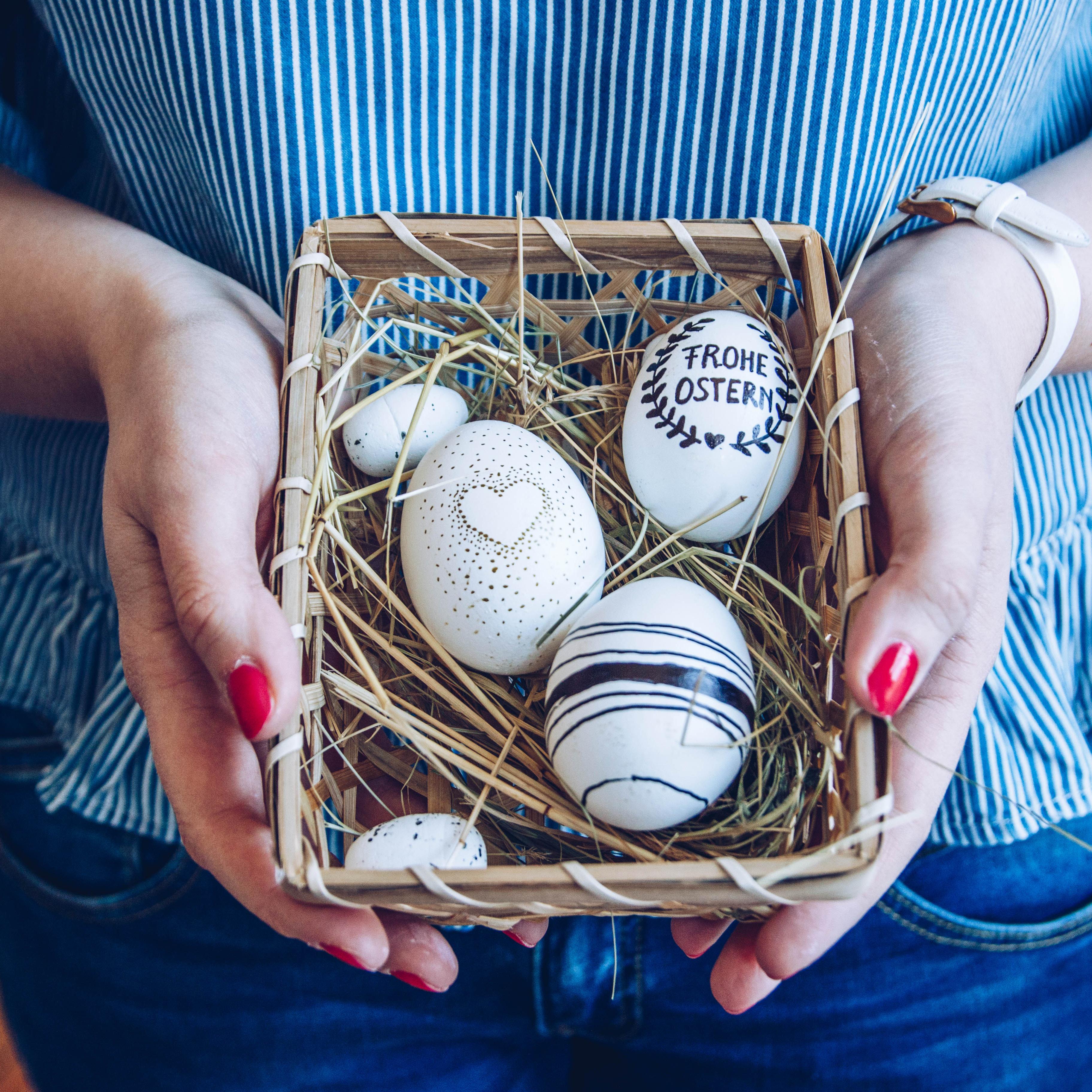 diy: ostereier gestalten – bemalen, färben & bepflanzen - zimmerzucker